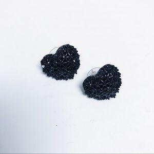 Betsey Johnson - Black Heart Earrings
